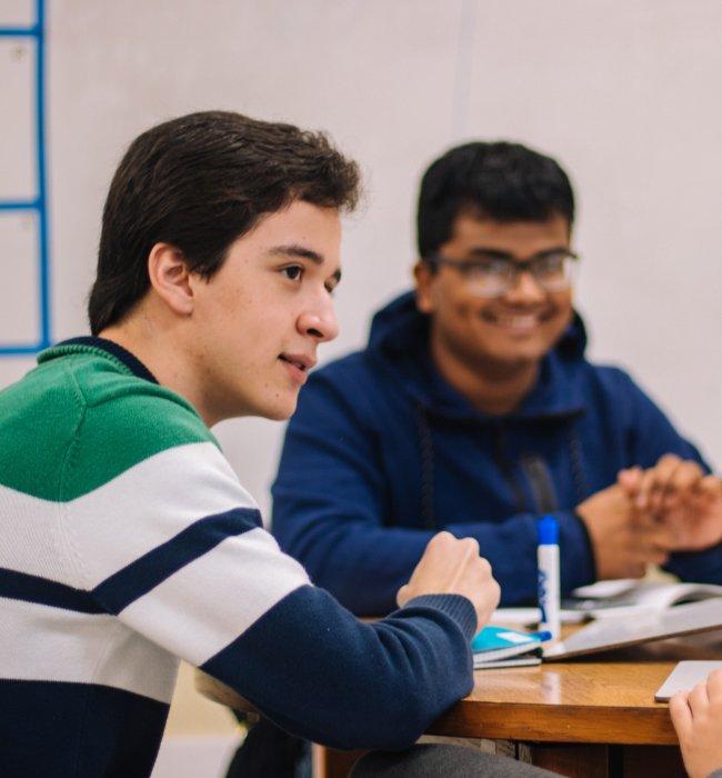 Jongens in de klas